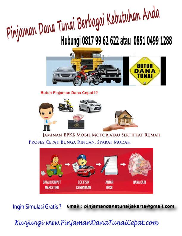 Pinjaman Dana Tunai Cepat BPKB Mobil