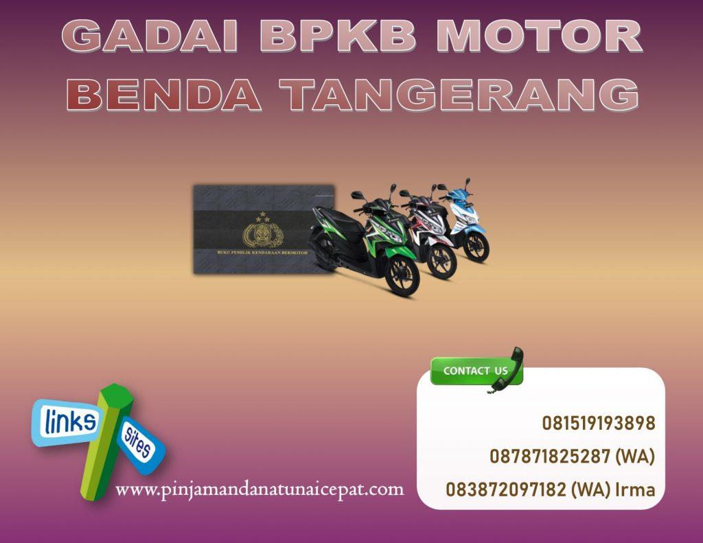 gadai BPKB Motor daerah Benda Tangerang