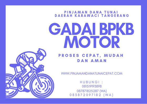 Gadai BPKB Motor Daerah Karawaci Tangerang