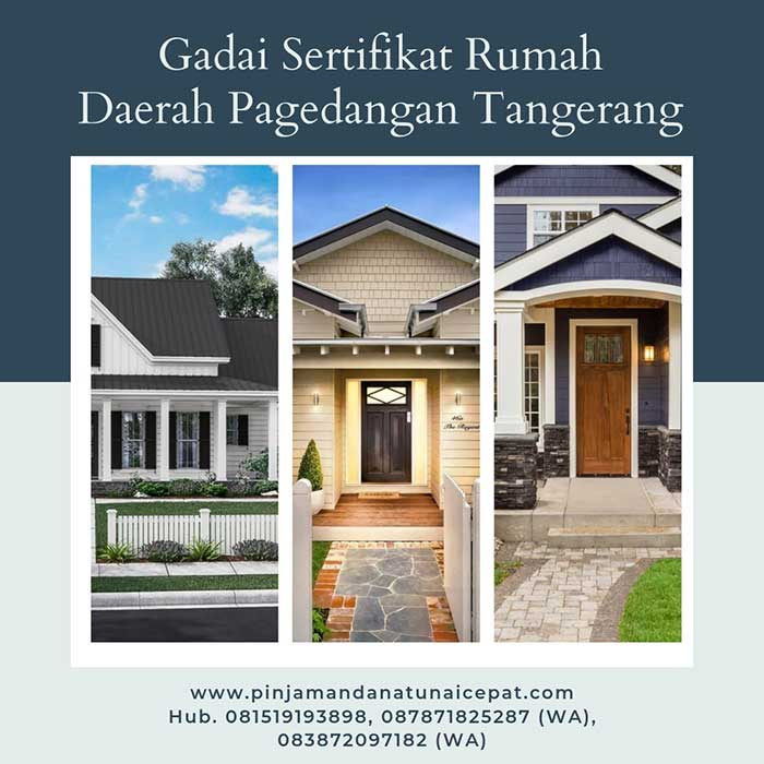 Gadai Sertifikat Rumah Daerah Pagedangan Tangerang
