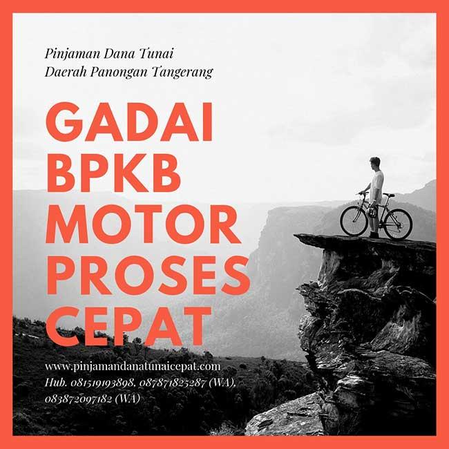 Gadai BPKB Motor Daerah Panongan Tangerang