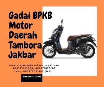 Gadai BPKB Motor Daerah Tambora Jakarta Barat