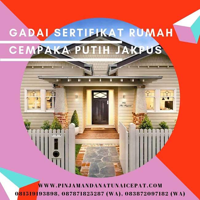 Gadai Sertifikat Rumah Daerah Cempaka Putih Jakarta Pusat