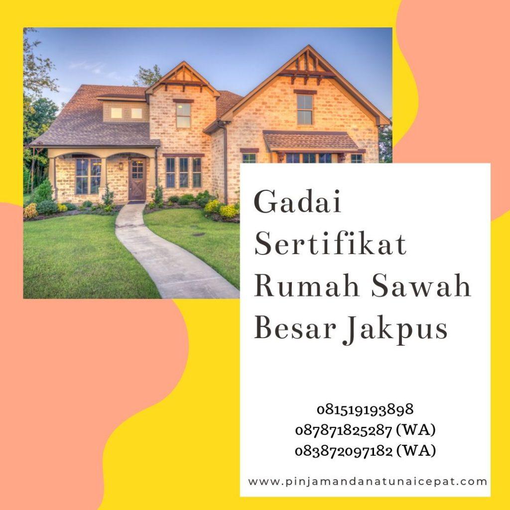Gadai Sertifikat Rumah Daerah Sawah Besar Jakarta Pusat