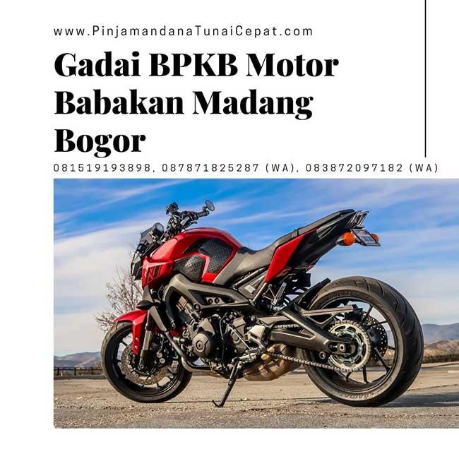 Gadai BPKB Motor Babakan Madang Bogor